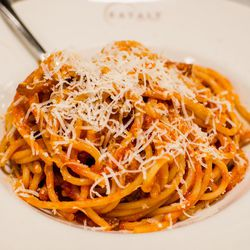 """Spagettoni al rancetto from Eataly by <a href=""""http://www.flickr.com/photos/micurs/8206562761/in/pool-29939462@N00/"""">micurs</a>."""