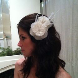 Coco Goose and Marabou fascinator, $150, By PishPoshes