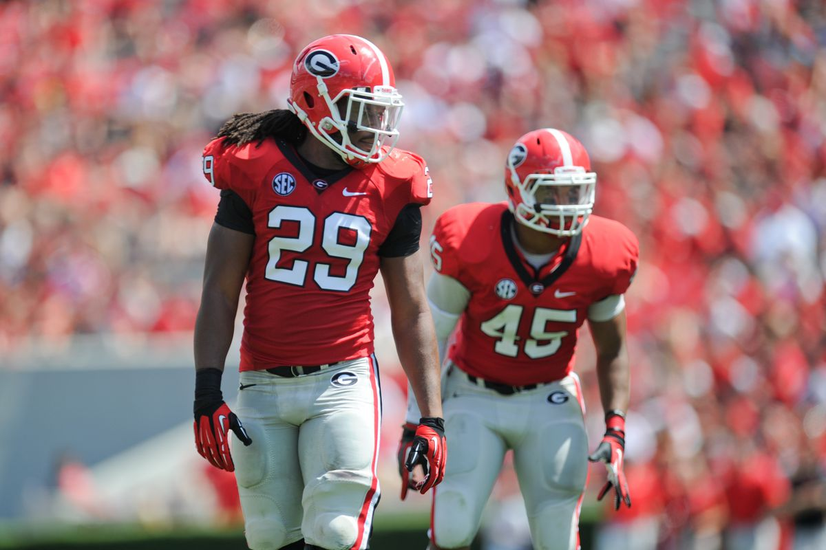 Jarvis Jones enjoys playing defense. (Photo by Kevin Liles-US PRESSWIRE)