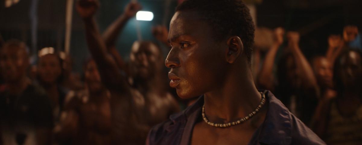 Koné Bakary in closeup as Roman in Night of the Kings