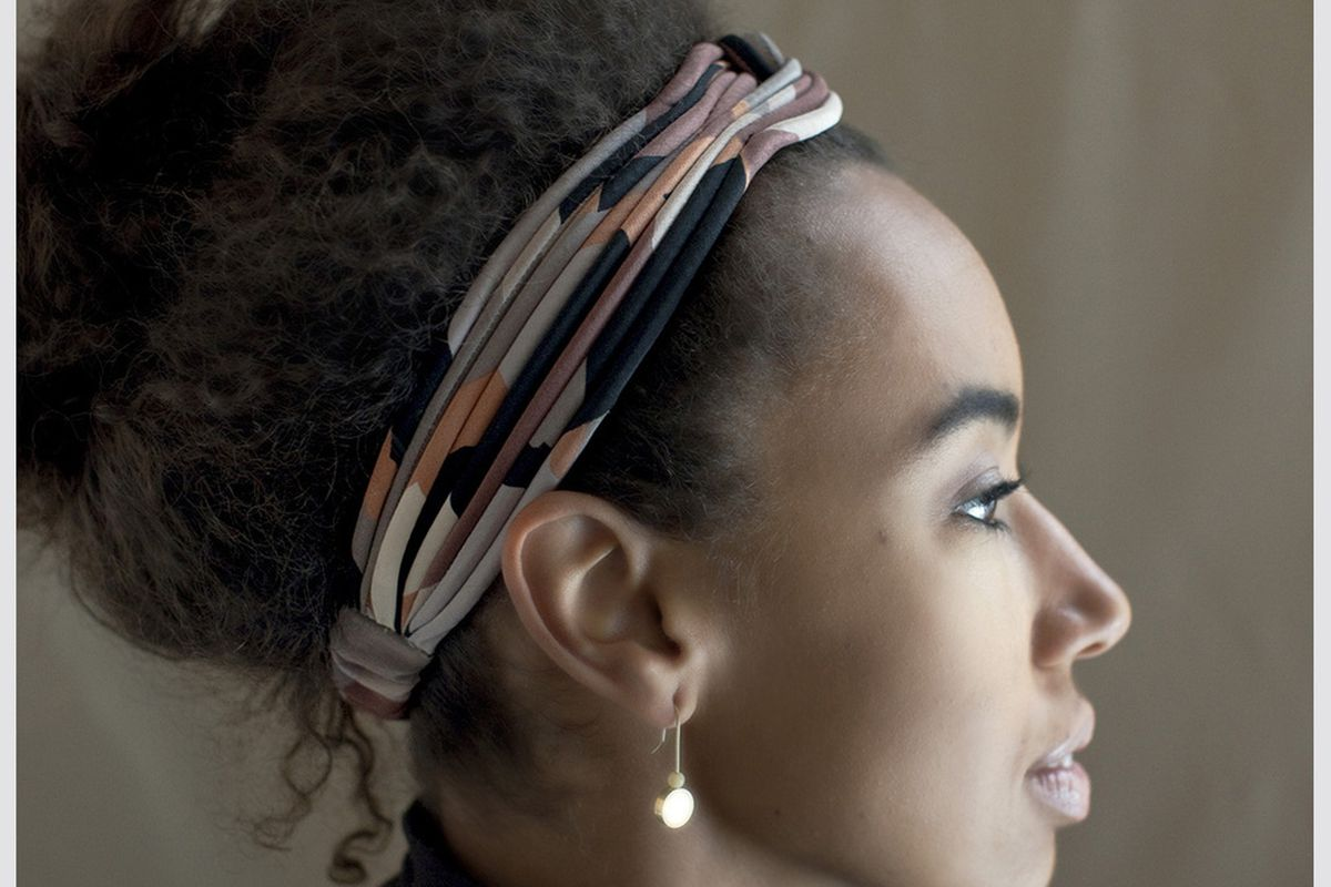 "Stella Fluorescent finger wave band, <a href=""http://stellafluorescent.bigcartel.com/product/large-turban-knot-headband"">$46</a>"