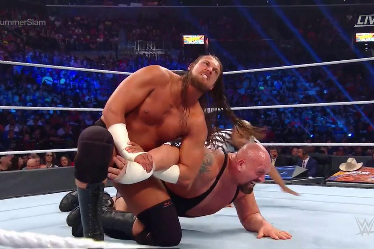 'This is a joke right?' WWE fans BLAST 'slow mo' match between two giant wrestlers