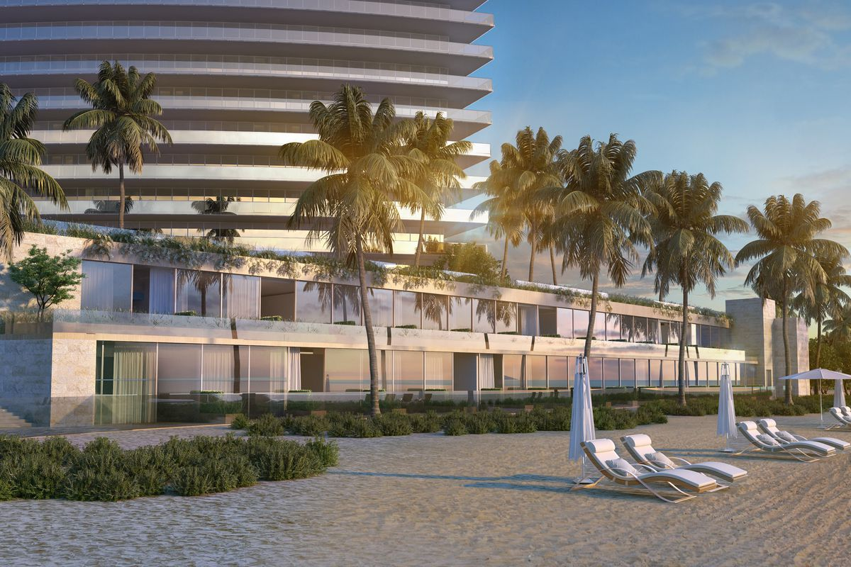 Rendering Of The Beach Cabanas At Residences By Armani Casa In Sunny Isles Courtesy Cesar Pelli