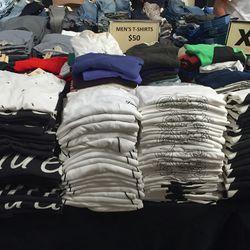 Men's T-shirts, $50