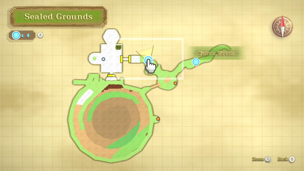 A Piece of Heart location in The Legend of Zelda: Skyward Sword HD