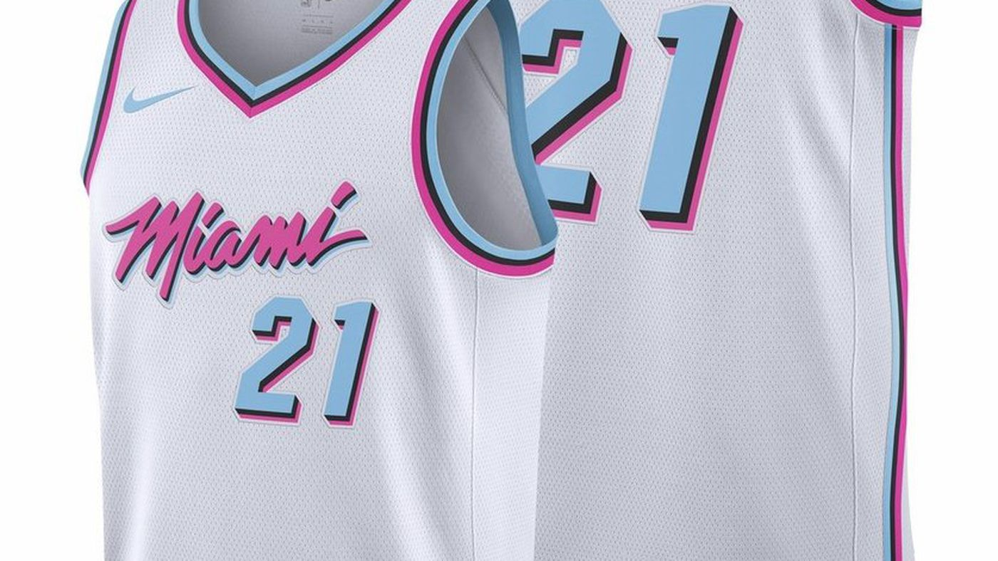 new style 29dc3 d2091 miami vice heat jersey for sale