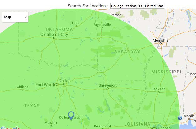 radiusmap