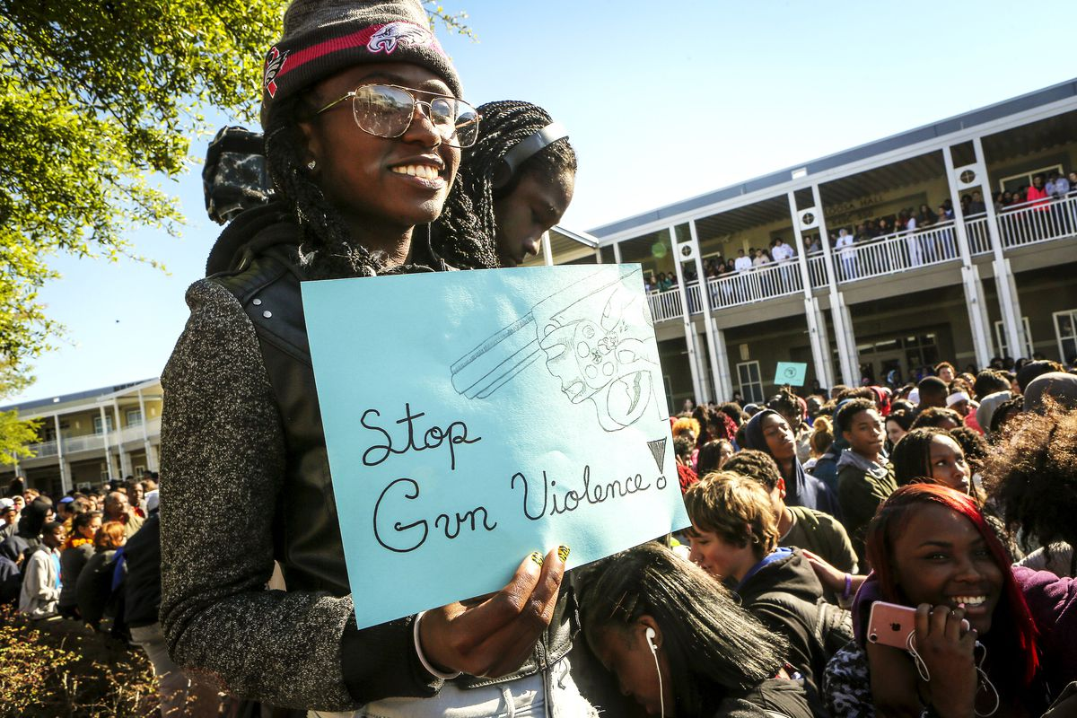 Black and Latino students called attention to how gun violence affects communities of color during the National School Walkout on March 14, 2018.