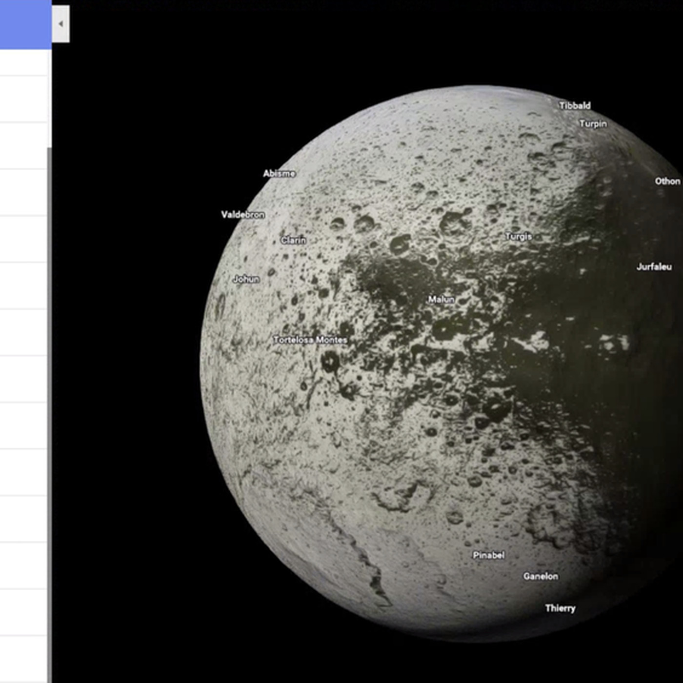 Google Maps now lets you explore more than a dozen planets ... on earth timeline map, earth radius map, earth atlas map, earth circle map, earth surface map, earth ball map, earth orbit map, earth normal map, earth geoid map, earth hexagon map, earth parallel map, earth hemisphere map, earth heat map, earth cylinder map, earth topology map, earth grid map, earth square map, earth gravity map,