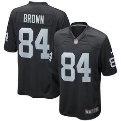 "<a class=""ql-link"" href=""http://sbnation.fanatics.com/NFL_Oakland_Raiders/Antonio_Brown_Oakland_Raiders_Nike_Youth_Game_Jersey_%E2%80%93_Black?utm_source=NFLFreeAgencyTracker"" target=""_blank"">Antonio Brown Oakland Raiders Nike Youth Game Jersey – Black</a> for $74.99"