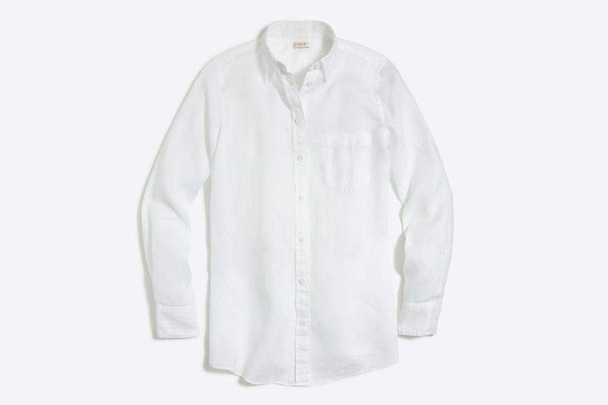 A white linen blouse
