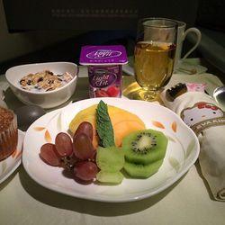 """I spy with my little eye...where's Kitty? Fresh fruit plate starter prior to Landing."" - <a href=""http://instagram.com/p/fY8ZMdonjO/"">@rolleyes</a>"