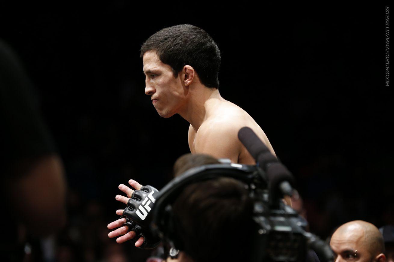 Joseph Benavidez (pictured) fights Deiveson Figueiredo at UFC 223 on Jan. 26 in Anaheim, Calif.