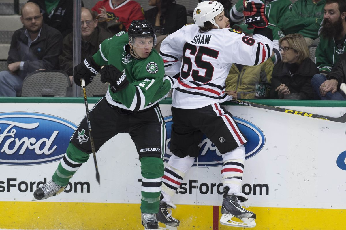 You were thinking about it. Antoine Roussel did it. You're welcome.