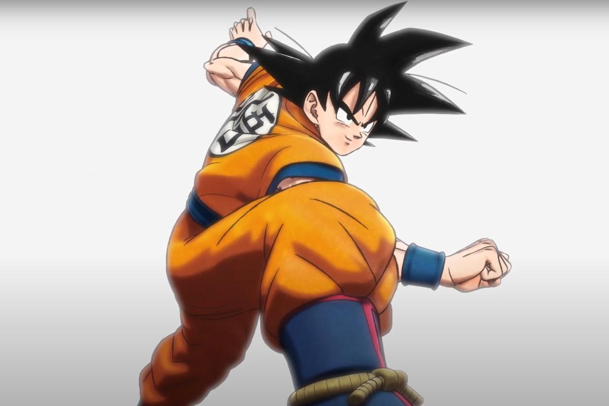 Goku from the Dragon Ball Super: Superhero teaser trailer