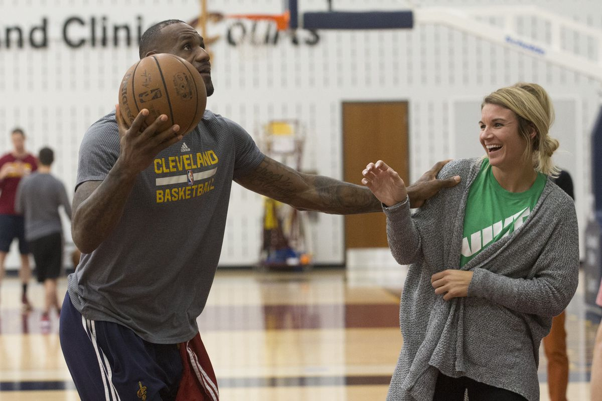 LeBron James and Allie Clifton (GettyImages)