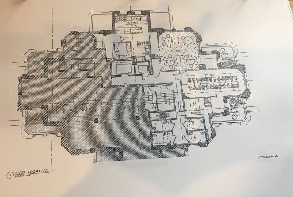 Proposed plan for 62nd floor