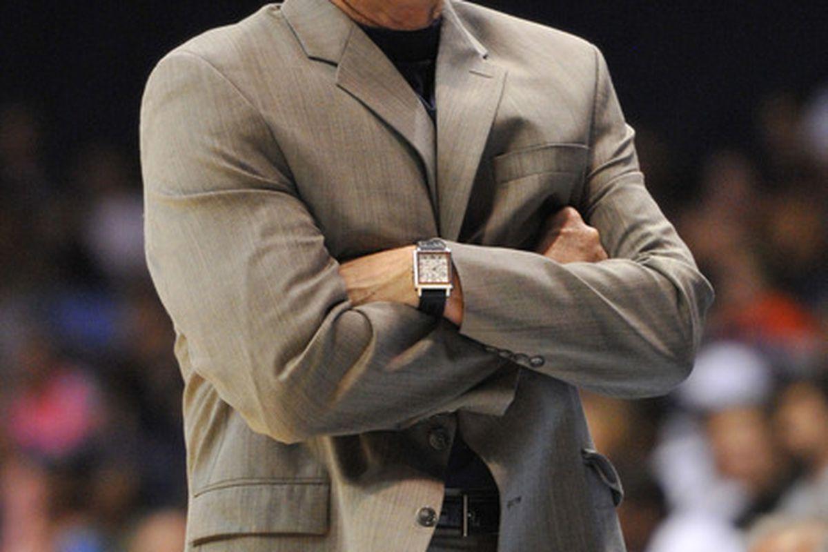 July 6, 2012; Chicago, IL, USA; New York Liberty head coach John Whisenant. Rob Grabowski-US PRESSWIRE