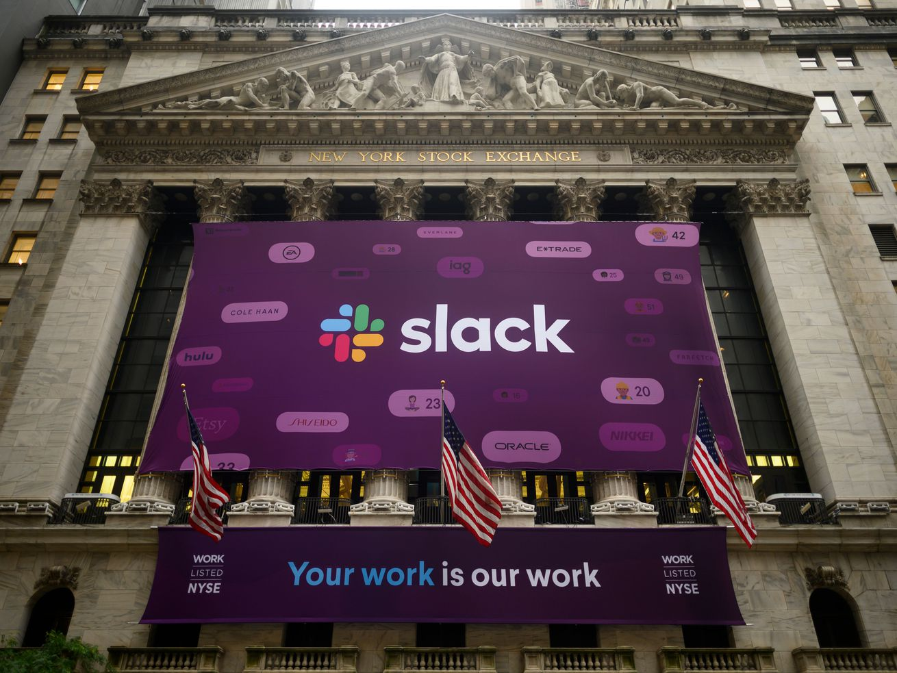 The newly public Slack is having to contend with the much older Microsoft in the workplace communication software market.