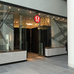 Lululemon was not quite ready to open.