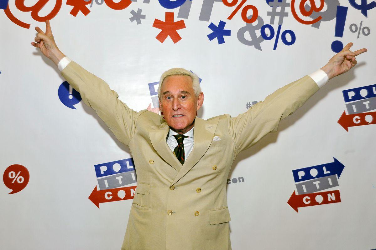 Roger Stone at Politicon at Pasadena Convention Center on July 29, 2017 in Pasadena, California.
