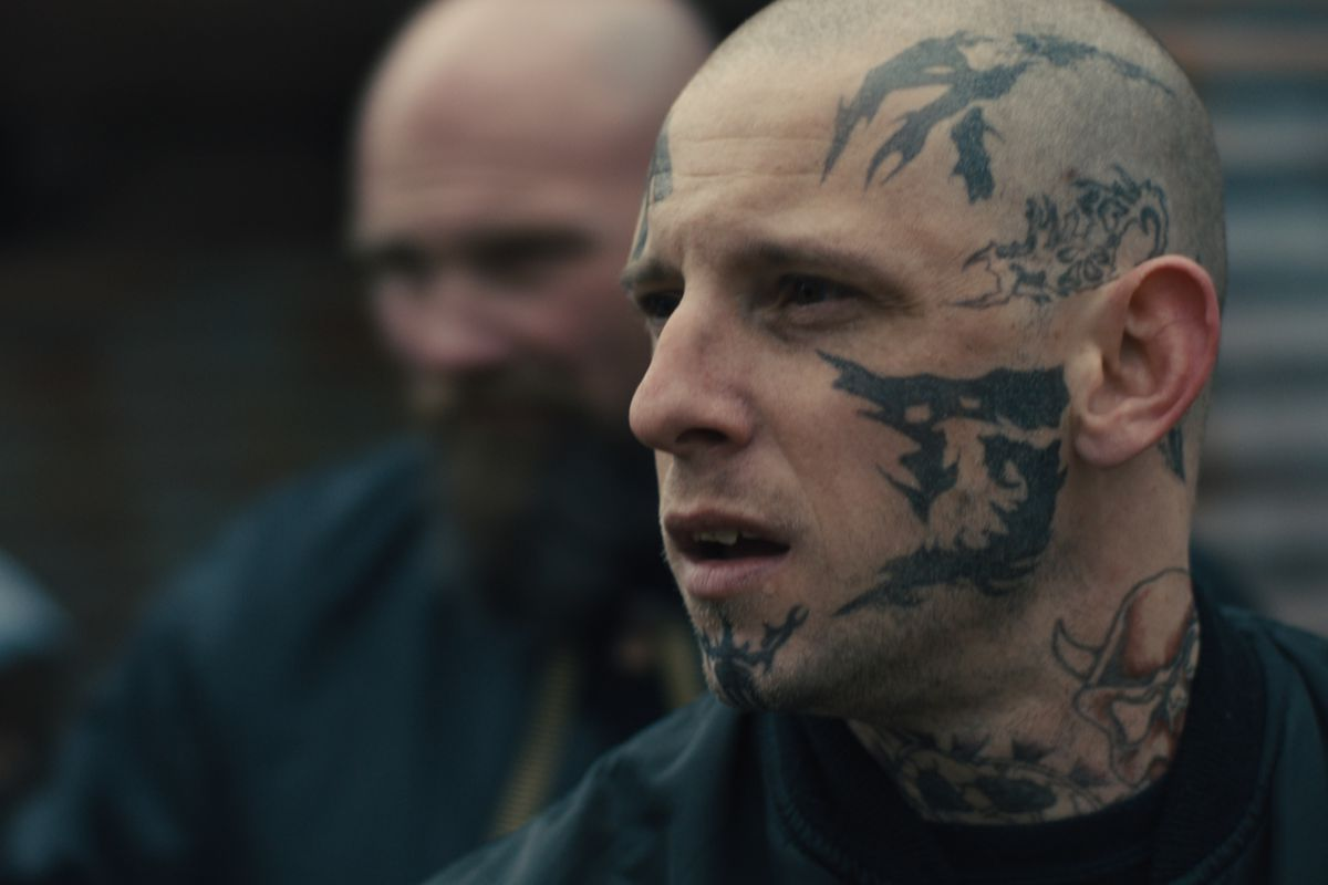 'Skin': Jamie Bell indelible as man whose tattoos give away his neo-Nazi past