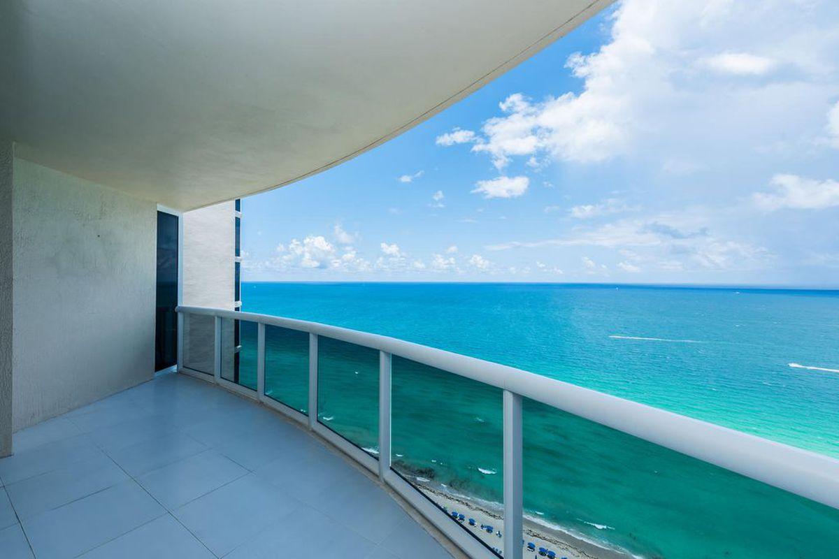 Ocean views off a balcony