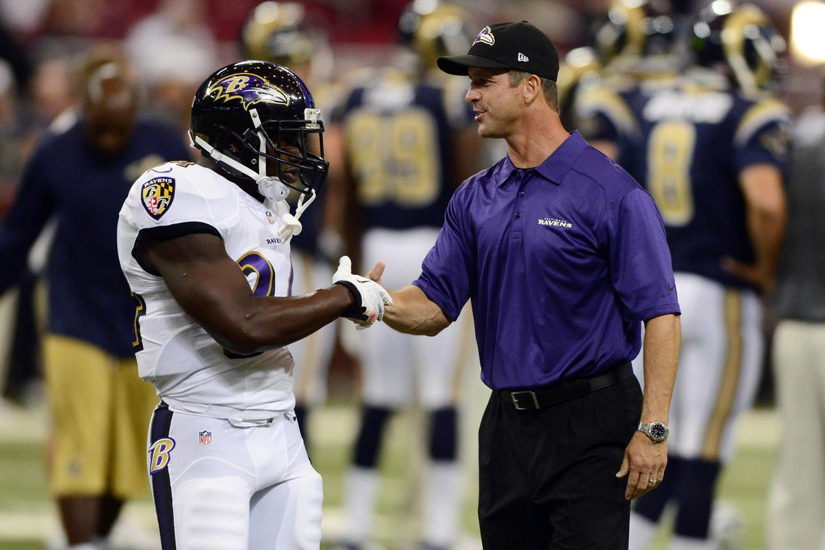 John Harbaugh appears pleased with Bobby Rainey, who might have earned a roster spot after Thursday night's game against St. Louis.