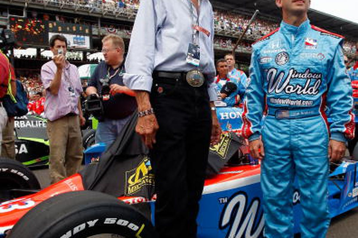 """If Bruton Smith and Randy Bernard have anything to say about it, Richard Petty and John Andretti will not be the only IndyCar/NASCAR """"crossovers"""" for long. (Photo by Chris Graythen/Getty Images)"""