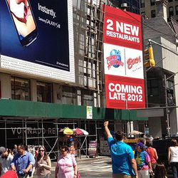 """More signs of the times in Times Square, via <a href=""""http://midtownlunch.com/2012/09/04/more-chain-fun-coming-soon-to-times-sq/"""">Midtown Lunch</a>."""