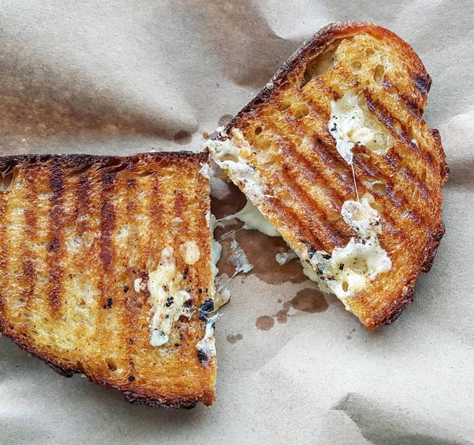 Grilled cheese at Central Bottle