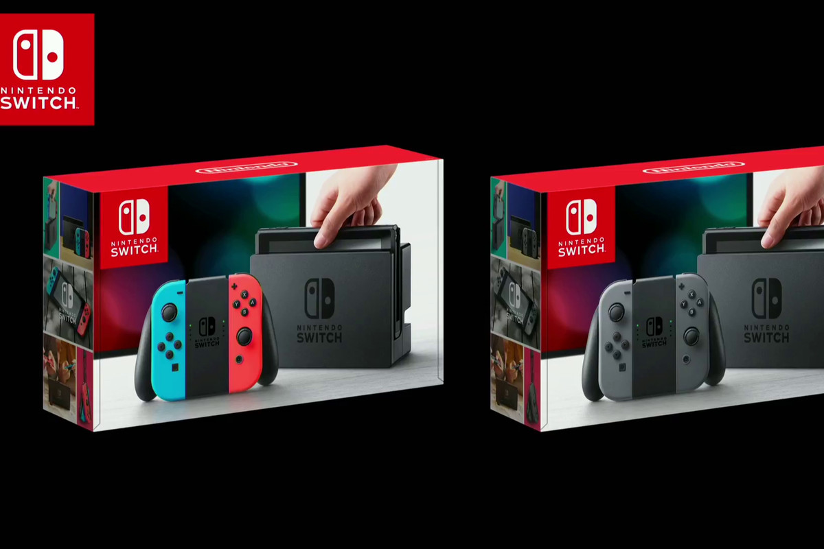 Nintendo Switch Comes In Two Bundles One With Red And Blue Neon Joy 3 Way Video Box