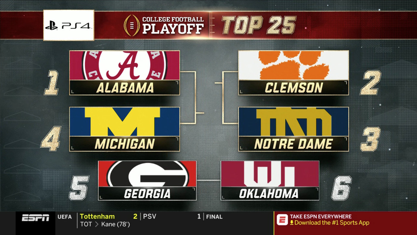 Notre Dame Football Ranked 3 In Cfb Playoff Rankings With Three