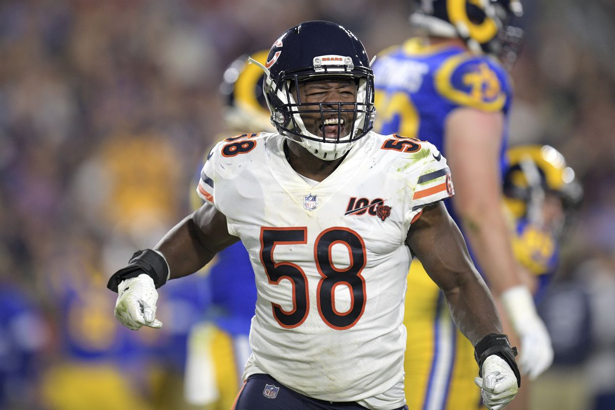Roquan Smith and the Bears face the Rams (4-2), Saints (3-2) and Titans (5-0) the next three weeks.