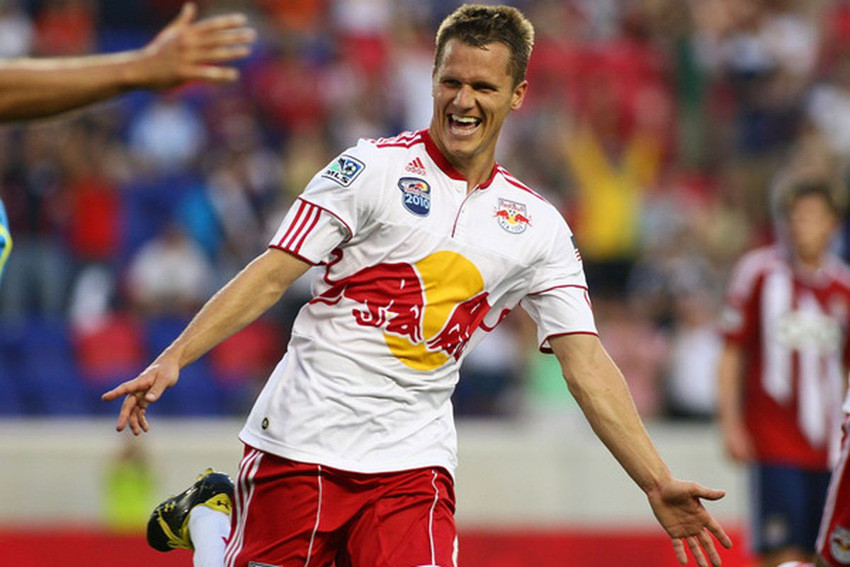 Seth Stammler scored the lone goal the last time we played Chivas, who will come up with the goods today? (Photo by Mike Stobe/Getty Images for New York Red Bulls)