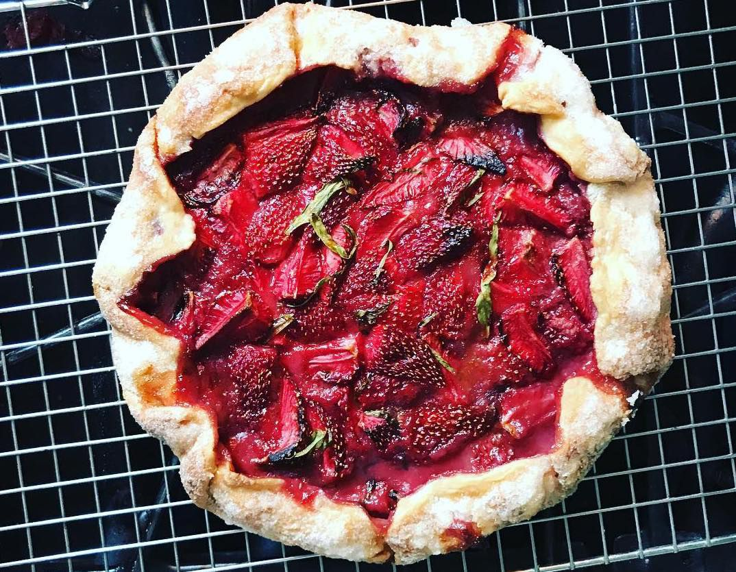 Seasonal fruit Galette at Violet in Hackney, one of the best places to eat pastry in London