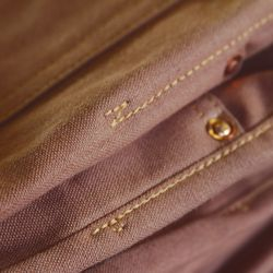 Each pant will feature hand-numbered leather patches and hand-hammered copper rivets.