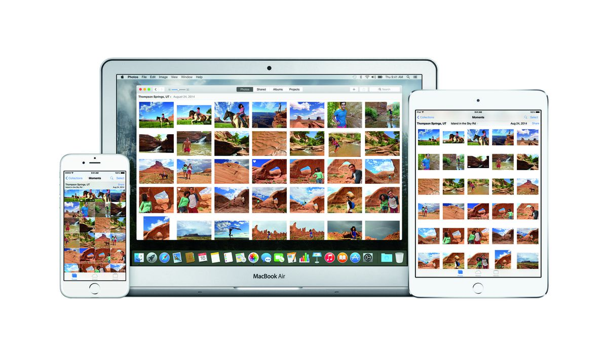 The new Mac Photos app now looks more like the iPhone and iPad apps.
