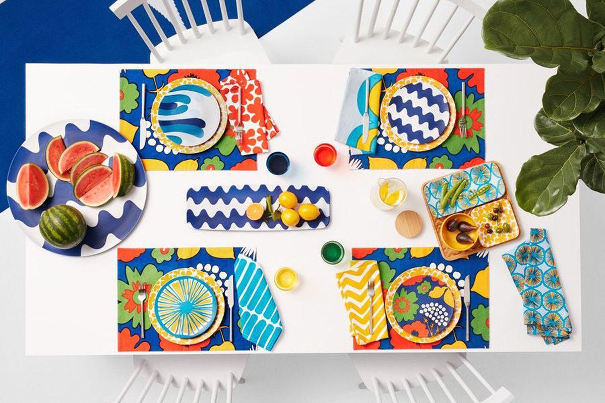 colorful tableware.
