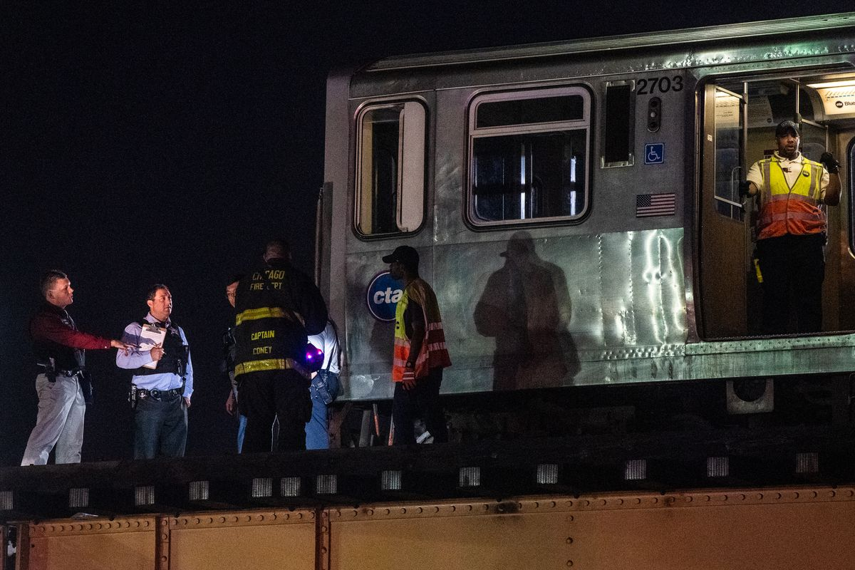 Person hit and killed by Blue Line train