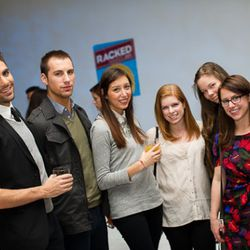 Former Racked interns Phill Picardi, far left, and Lauren Frankfort, fourth from left. They grow up so fast!