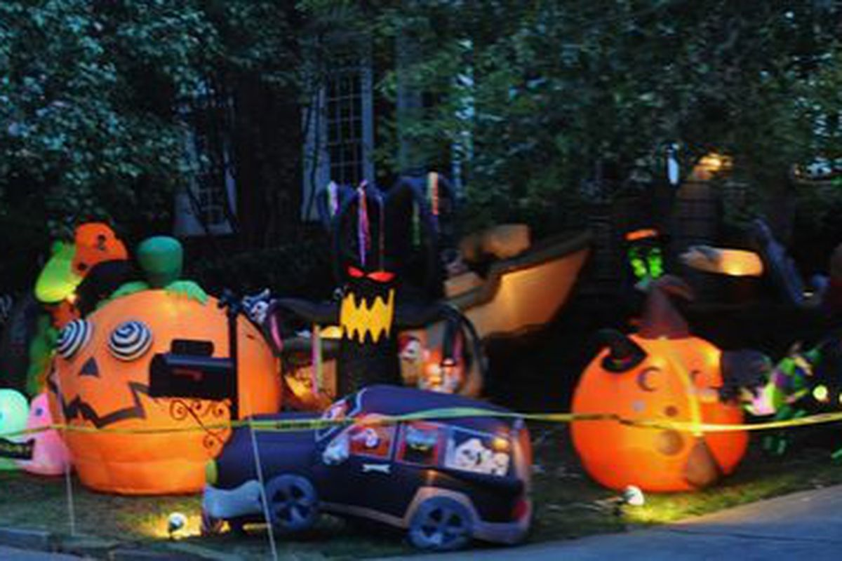 Buckhead House is Like the Mecca of Halloween Inflatables