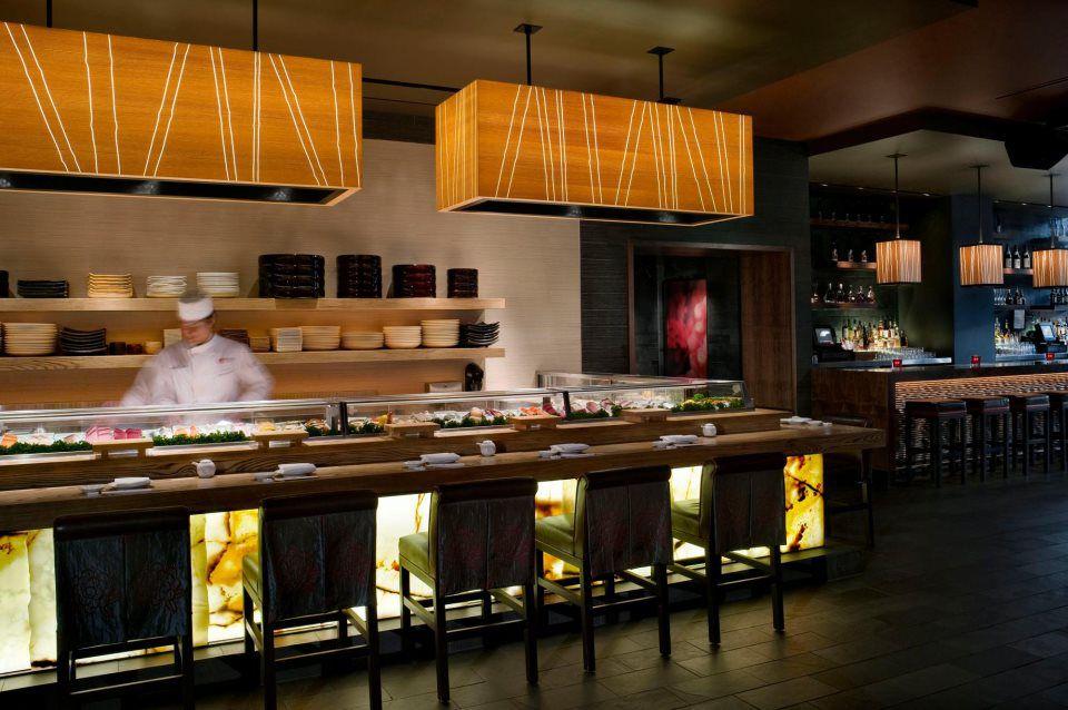 The sushi bar inside Nobu.