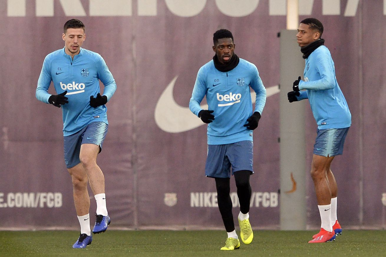 Todibo joins Dembele in making early return to training