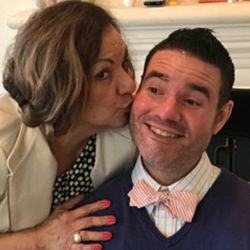 Morena Barahona Merlos kisses her son, Vance Taylor.