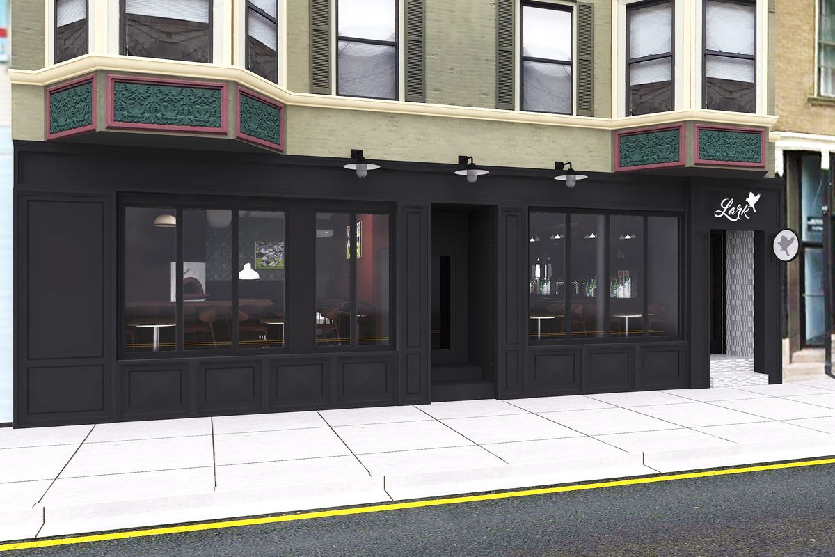 A rendering of the facade at Lark.