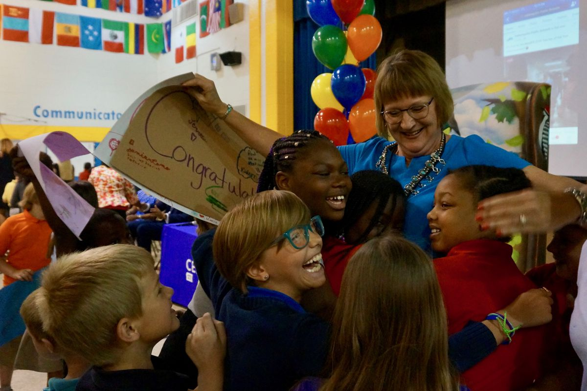 Kathleen Rauth was named Indianapolis Public Schools Teacher of the Year.