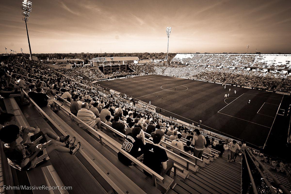 Crew Stadium, the barebones home of the Crew... and the National Team? (Fahmi/MassiveReport.com)