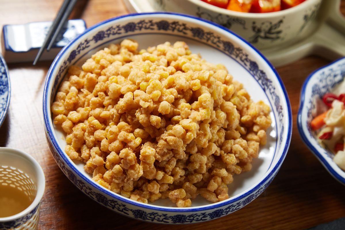 Szechuan Mountain House fried corn kernels