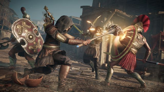 Kassandra slays an enemy in 'Bloodline,' <em>Assassin's Creed Odyssey</em> DLC, out this week